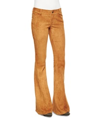 Alice Olivia Suede Bell Bottom Pants