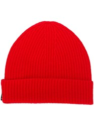 Hope Knitted Beanie Red