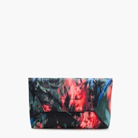 J.Crew Envelope Clutch In Floral Splash Black Multi