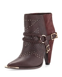 Ivy Kirzhner Spurs Harness Leather Ankle Boot Oxblood