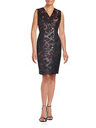 Lafayette 148 New York Kendall Sleeveless Sheath Dress Roselle Multicolor