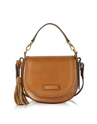 The Bridge Medium Leather Messenger Bag W Tassels Cognac