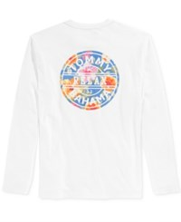 Tommy Bahama Men's Relax Graphic Long Sleeve T Shirt White