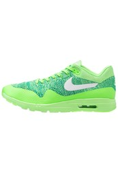 Nike Sportswear Air Max 1 Ultra Flyknit Trainers Voltage Green White Lucid Green Rio Teal Neon Green