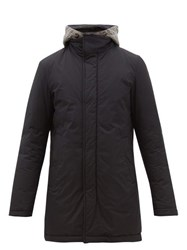 Herno Gilet Insert Quilted Hooded Parka Navy