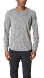 Reigning Champ Honeycomb Mesh Long Sleeve Crew Tee Heather Black