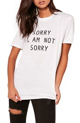 Missguided Women's Sorry Not Sorry Tee