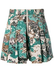Diesel Loose Fit Camo Shorts Green