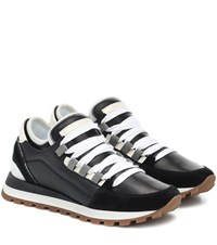 Brunello Cucinelli Suede And Leather Sneakers Black
