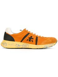 Premiata White Louis Sneakers Yellow Orange