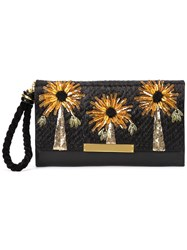 Lizzie Fortunato Jewels Floral Detail Clutch Black