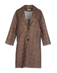 Stefanel Coats And Jackets Coats Women Brown
