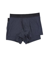 Columbia Performance Cotton Stretch Trunks 2 Pack India Ink Men's Underwear Gray