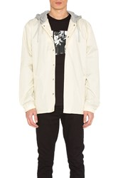 Undefeated Hooded Coaches Jacket Ivory