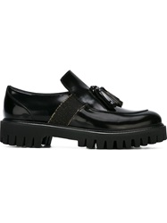 Alberto Guardiani Tassel Detail Loafers Black