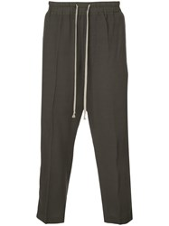Rick Owens Cropped Drawstring Trousers Green
