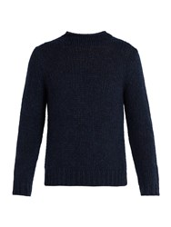 Ralph Lauren Purple Label High Neck Cashmere Sweater Navy