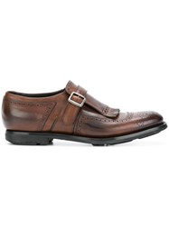 Church's Fringed Monk Shoes Brown