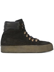 Guidi Platform Sole Boots Leather Suede Rubber Black