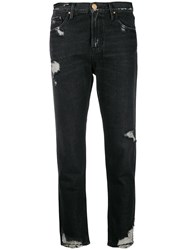Don't Cry Distressed Jeans Grey