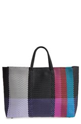 Truss Large Woven Tote Pink Fuchsia Red