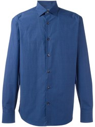 Salvatore Ferragamo Stylised Print Shirt Blue