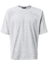 3.1 Phillip Lim Classic Fitted T Shirt Cotton Grey