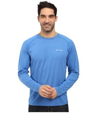 Columbia Tuk Mountain Long Sleeve Shirt Super Blue Heather Men's Long Sleeve Pullover