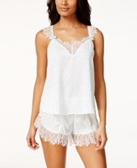 Betsey Johnson Lace Trim Tank And Shorts Set 7311113 White Betty Blue
