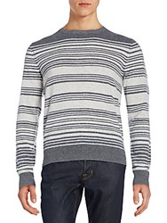 Saks Fifth Avenue Striped Cashmere Sweater Pearl
