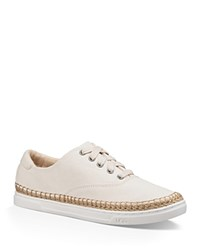 Ugg Eyan Ii Canvas Lace Up Sneakers Natural