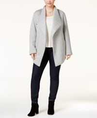 Rachel Roy Trendy Plus Size Quilted Jacket Heather Grey
