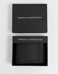 French Connection Saffiano Wallet Black