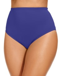 Lablanca La Blanca Plus Size High Waist Swim Brief Bottom Women's Swimsuit Sapphire Blue