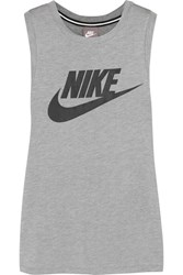Nike Printed Stretch Jersey Tank Gray