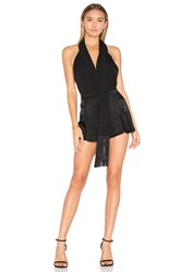 Haute Hippie You Only Live Twice Bodysuit Black