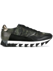 Dolce And Gabbana Camouflage 'Capri' Sneakers Black