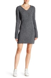 Marc By Marc Jacobs Bonded Thermal Pullover Sweater Dress Gray