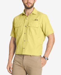 G.H. Bass And Co. Men's Performance Vented Short Sleeve Shirt Popcorn