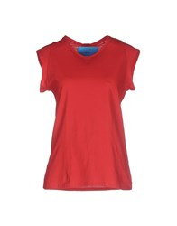 .. Merci Topwear T Shirts Women Red