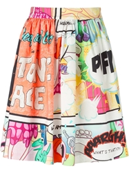 Moschino Cheap And Chic Cartoon Print Skirt
