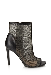 Forever 21 Lace Peep Toe Booties