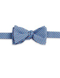 Brooks Brothers Silk Sailboat Bow Tie Blue
