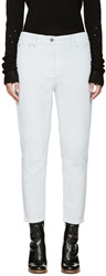3.1 Phillip Lim Blue Ceramic Washed Saddle Jeans