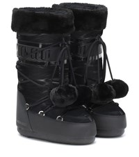 Moon Boot Exclusive To Mytheresa Classic Pom Pom Ankle Boots Black