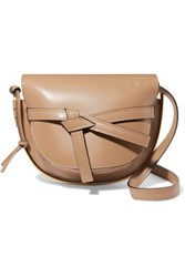 Loewe Gate Small Leather Shoulder Bag Taupe