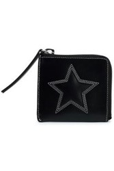 Mcq By Alexander Mcqueen Embroidered Leather Wallet Black