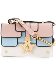 Giancarlo Petriglia Panelled Shoulder Bag Nude And Neutrals