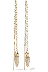Pamela Love Suspension Gold Diamond Earrings