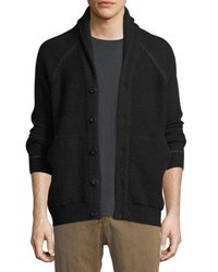Billy Reid Seed Stitch Wool Blend Cardigan Black